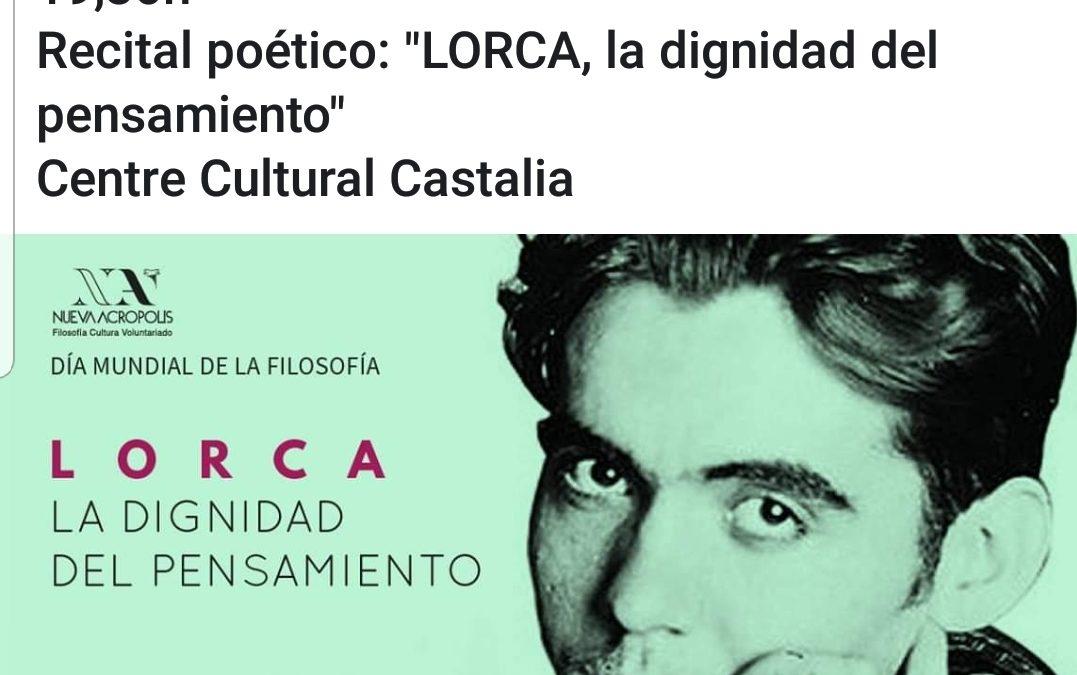 Recital Poético. Homenaje a Lorca
